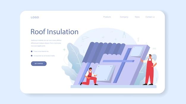 Banner de isolamento da web ou página inicial