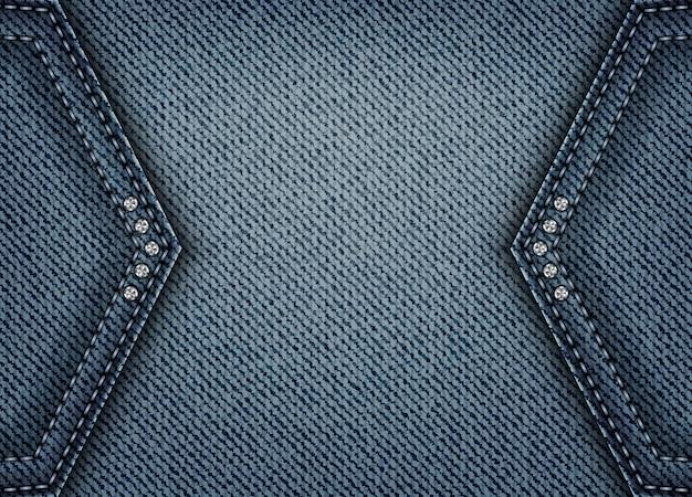 Banner de jeans com manchas de ângulo
