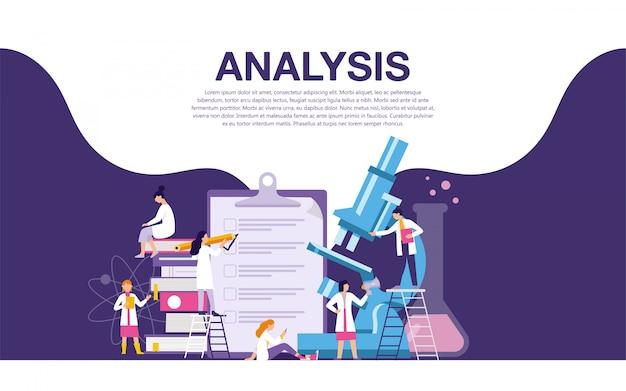 Banner de laboratório de pesquisa de análise