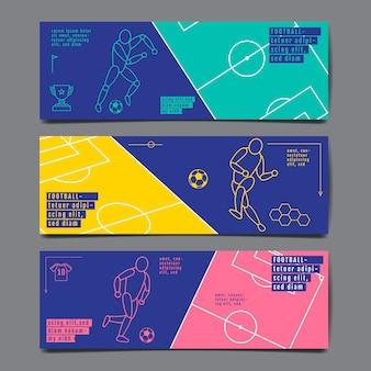 Banner de layout de esporte modelo