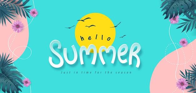 Banner de layout de verão colorido