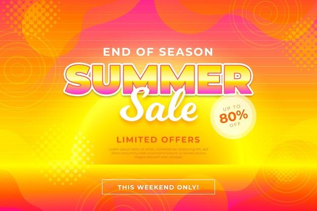 Banner de liquidação de verão no final da temporada