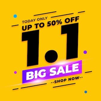 Banner de liquidação do dia de compras de janeiro