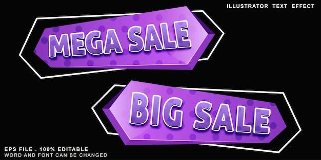 Banner de logotipo de efeito de texto editável de venda