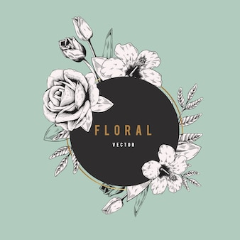 Banner de logotipo floral
