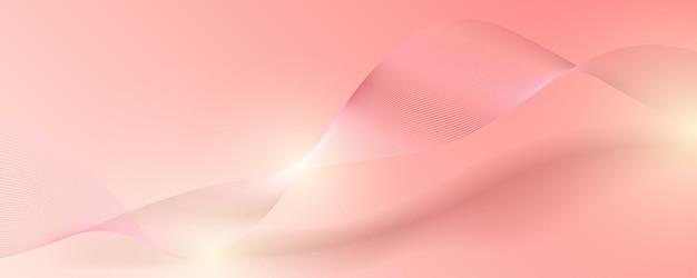 Banner de luxo abstrato em ouro rosa