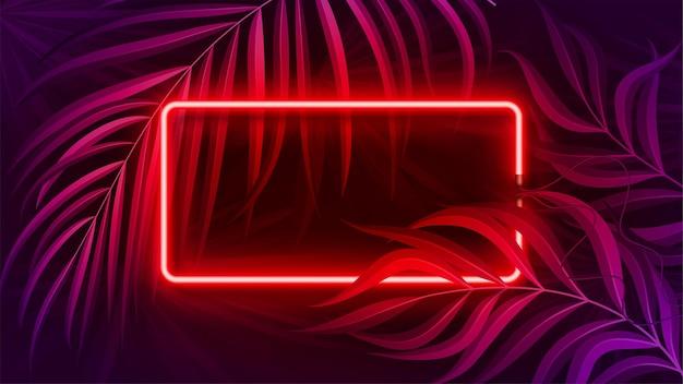 Banner de luz neon em ilustração de conceito de cor fluorescente