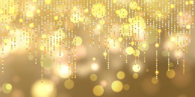 Banner de luzes de bokeh de natal