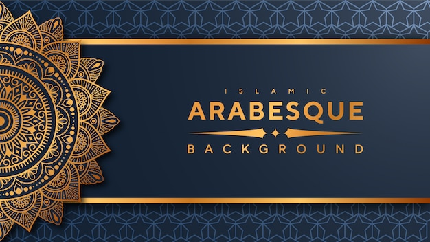 Banner de mandala de arabesco de luxo