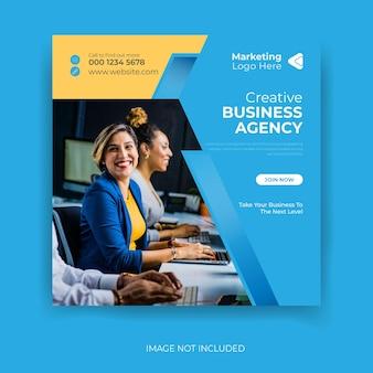 Banner de marketing de negócios criativos para modelo de postagem de mídia social