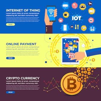 Banner de marketing de negócios na internet