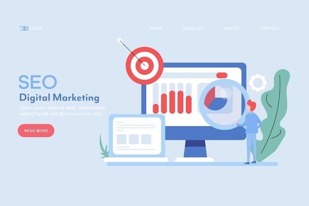 Banner de marketing de seo