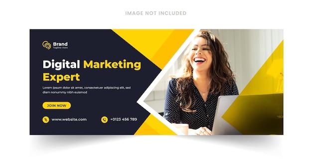 Banner de marketing digital na web ou banner de mídia social