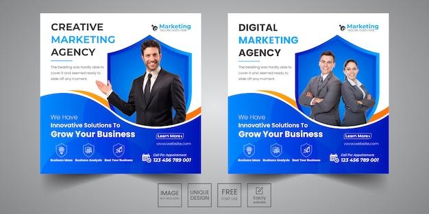 Banner de marketing social de design criativo