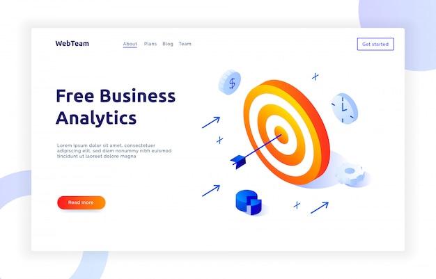 Banner de marketing social isométrica