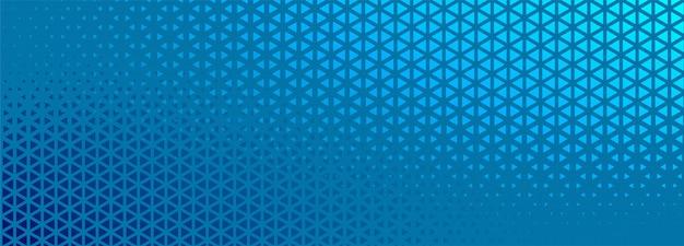 Banner de meio-tom azul com design de formas do triângulo