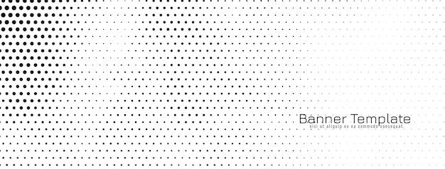 Banner de meio-tom simples abstrato