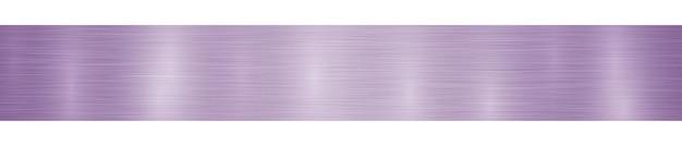 Banner de metal horizontal abstrato ou fundo com reflexos em cores roxas claras