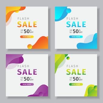Banner de mídia social com um tema de venda flash