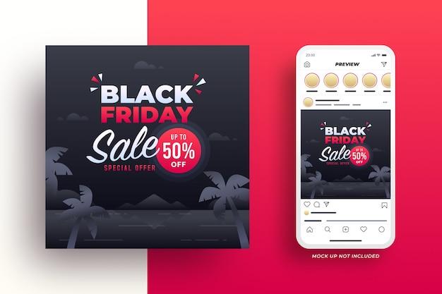 Banner de mídia social da black friday