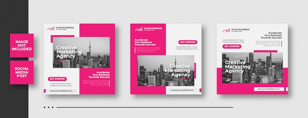 Banner de mídia social de marketing de negócios criativos