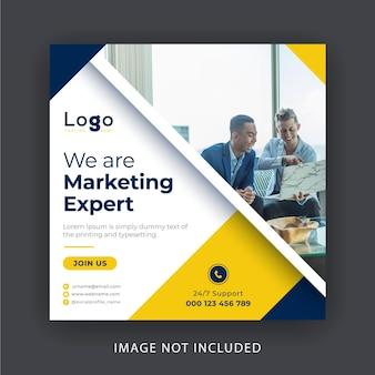 Banner de mídia social de marketing digital busness