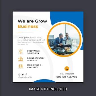 Banner de mídia social de marketing digital