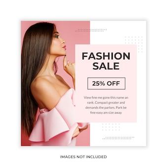 Banner de mídia social de promoção de moda estilo minimalista