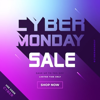 Banner de mídia social do cyber monday