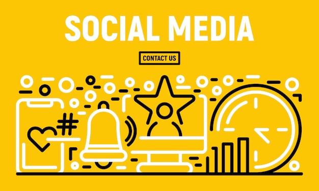 Banner de mídia social, estilo de estrutura de tópicos