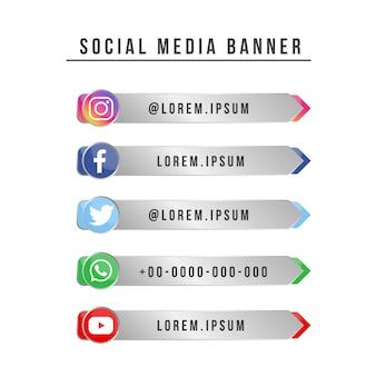 Banner de mídia social futurista