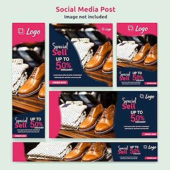 Banner de mídia social ou modelo de postagem