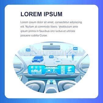 Banner de mídia social smart car