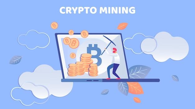 Banner de mineração de criptografia