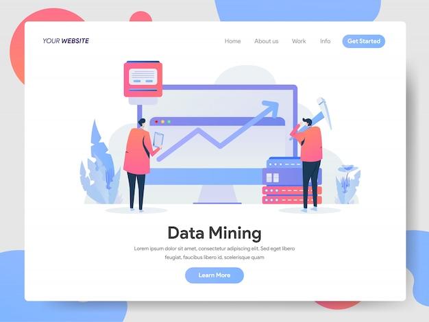Banner de mineração de dados da página de destino