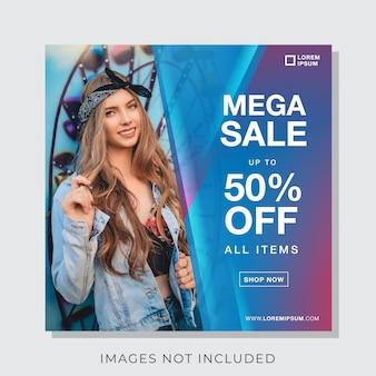 Banner de moda para instagram e modelo de postagem de mídia social