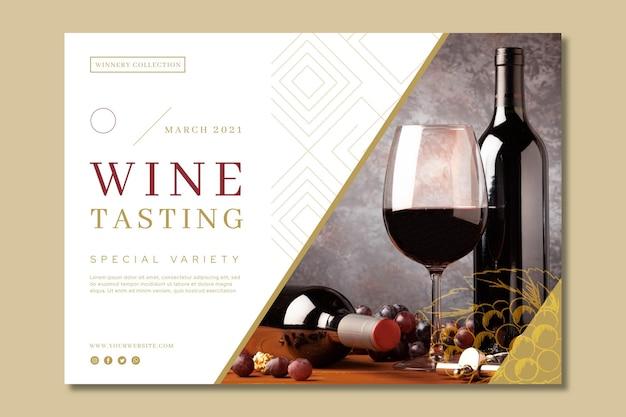 Banner de modelo de anúncio de degustação de vinhos