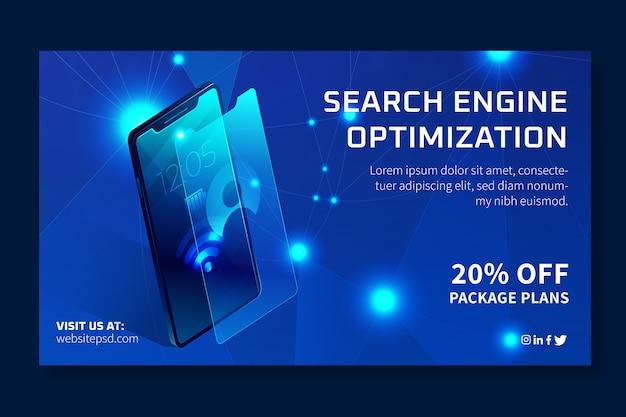 Banner de modelo de anúncio de seo