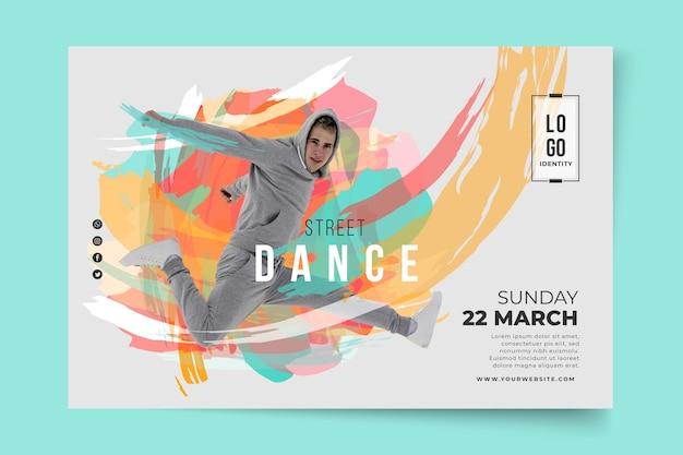 Banner de modelo de aulas de dança