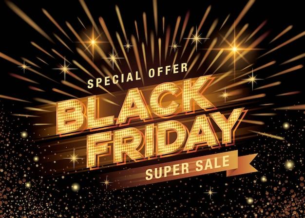 Banner de modelo de banner black friday sale