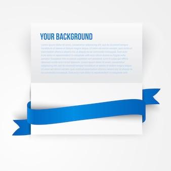 Banner de modelo de papel vetorial. nota branca