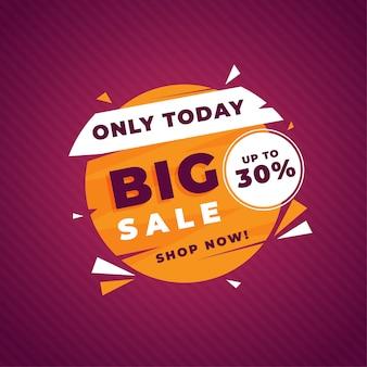Banner de modelo de promoção de grande venda