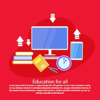 Banner de modelo para toda a web de educação com espaço de cópia