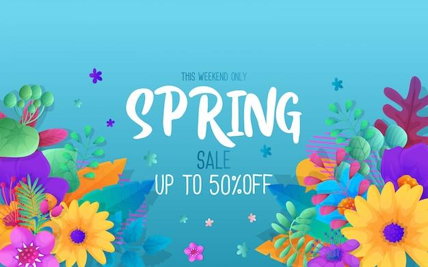 Banner de modelo para venda de temporada de primavera