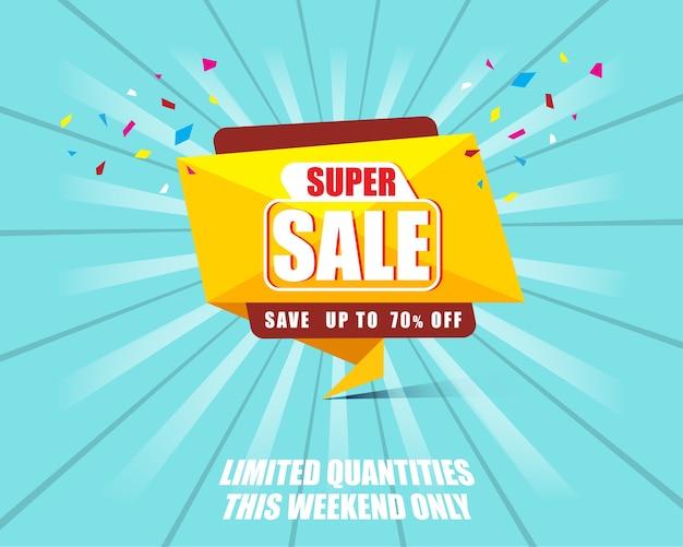 Banner de modelo super vendido com desconto de até 70%.