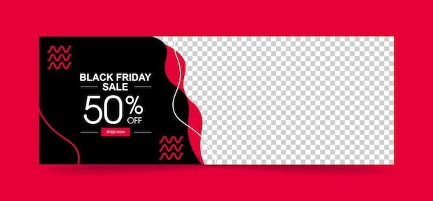 Banner de modelo venda de sexta-feira negra