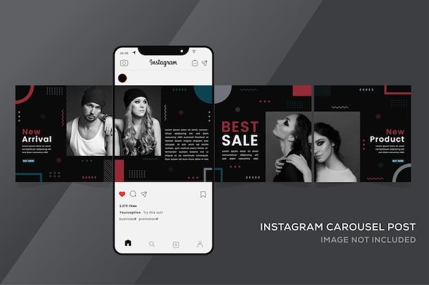 Banner de modelos de instagram em carrossel