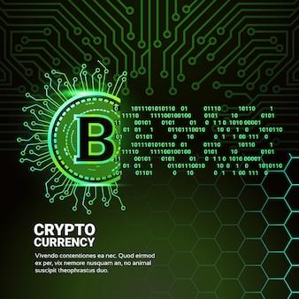 Banner de moeda de criptografia