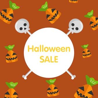Banner de monstro de doces de halloween