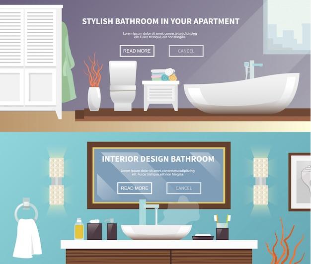 Banner de móveis de casa de banho
